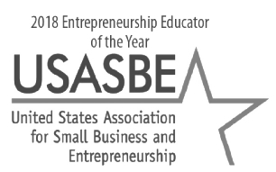 2018 Entrepreneurship Educator of the Year - United States Association for Small Business and Entrepreneurship