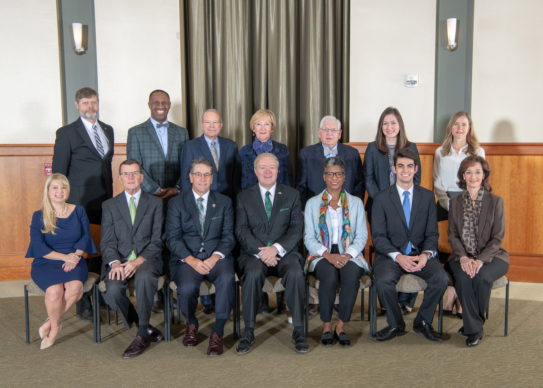 Group portrait of the 2018 - 2019 Ohio University Board of Trustees