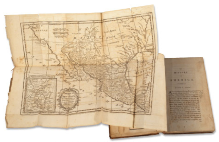 Image of History of America book with early American map highlighted