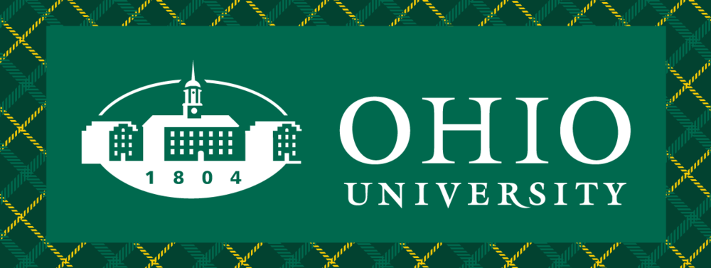 Ohio University Logo usage example on complex background