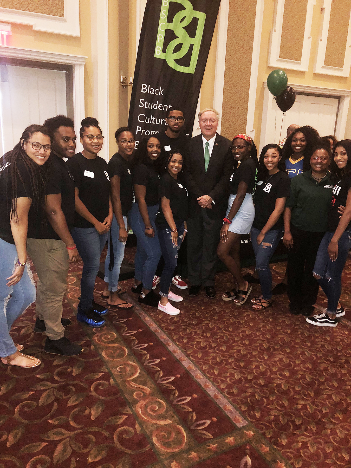 BSCPB MC Student Expo 2018 with President Nellis