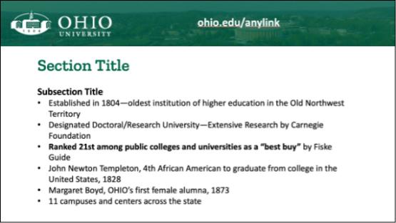 Diy Templates Ohio University