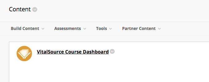 VitalSource Course Dashboard