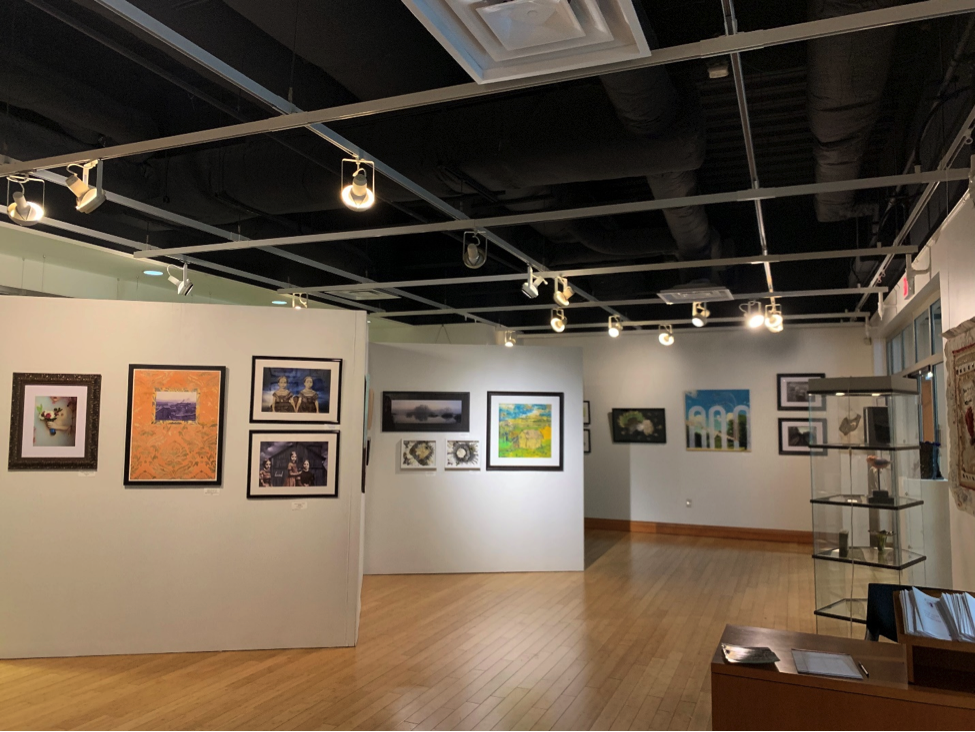 Multicultural Center's art gallery displaying the work of artists from Women of Appalachia
