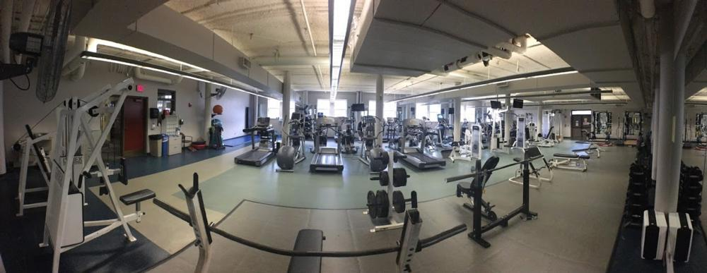 Panorama View of the Fitness Center at WellWorks