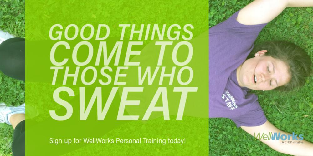 Good things come to those who sweat quote