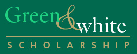 Green and White Scholarship Banner