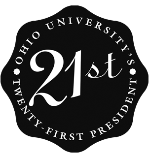 Graphic of Ohio University 21st President official seal