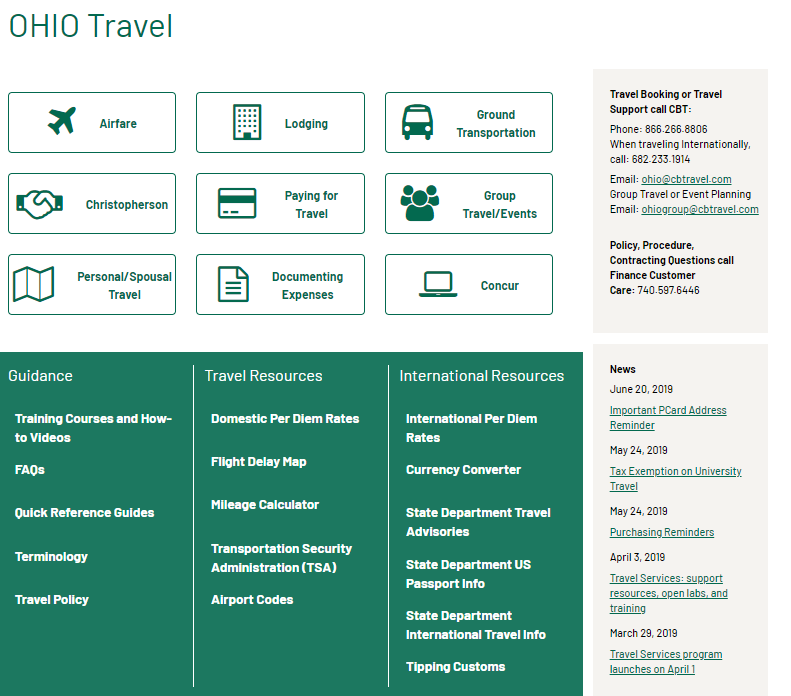 new travel web page layout