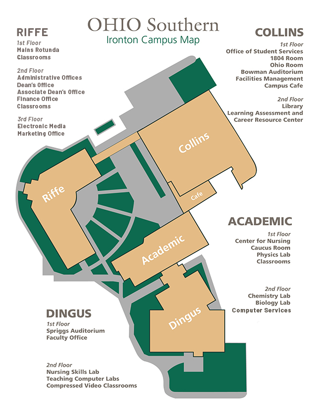 Southern campus map