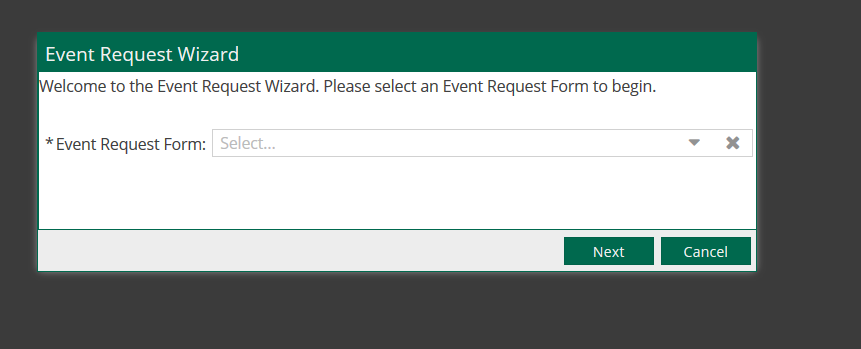 Event Request Wizard