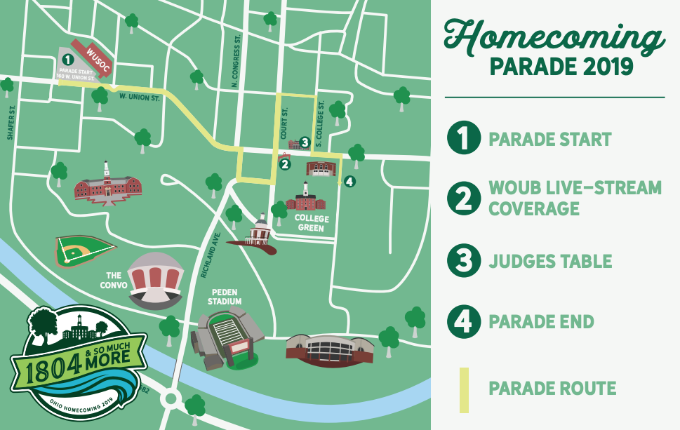 2019 Homecoming Parade Map