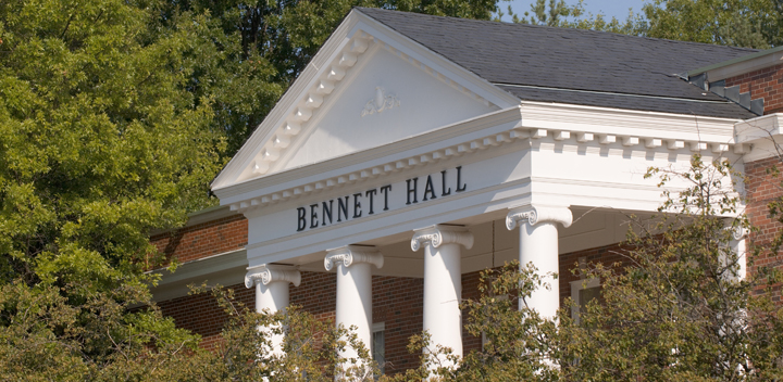 Outside of Bennett Hall