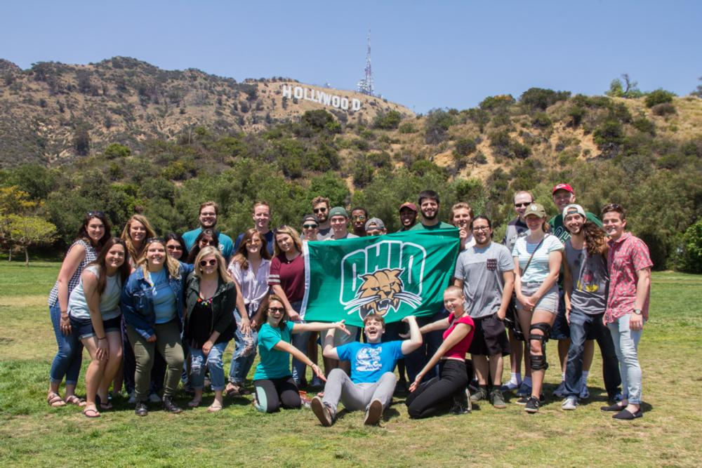 OHIO in LA Summer 2018 Students in front of the Hollywood sign