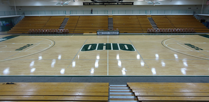Ohio University basketball court