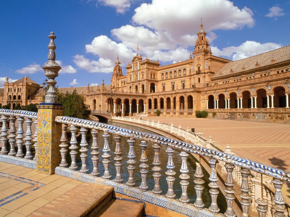 Historical building in Spain called plaza de Espana