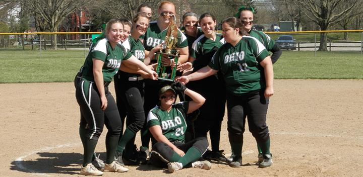 Women's Softball, Holding the O.R.C.C. Championship trophy