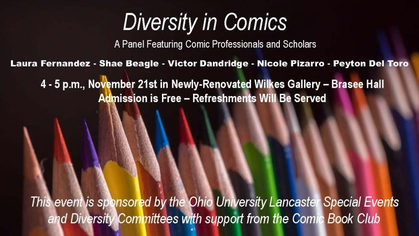 Diversity in Comics Panel Packed the Newly-Renovated Wilkes Gallery