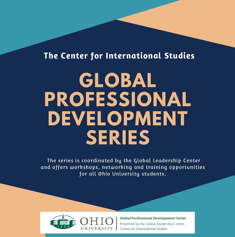 Flyer for the Global Professional Development Series