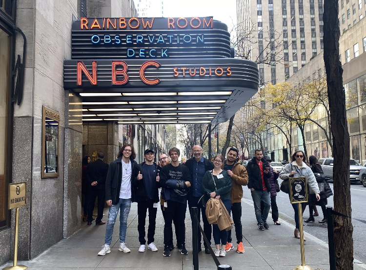 Students outside of NBC studios in NYC