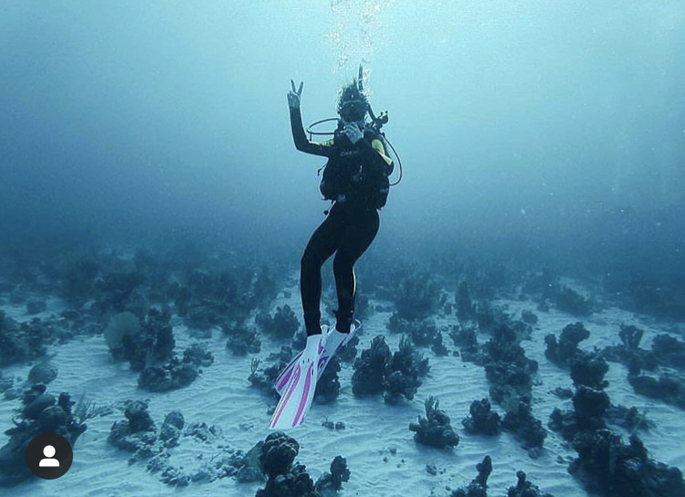 Photo of a student Scuba Diving
