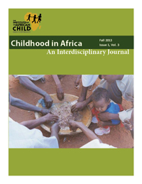 "The cover of an issue of ""Childhood in Africa"""