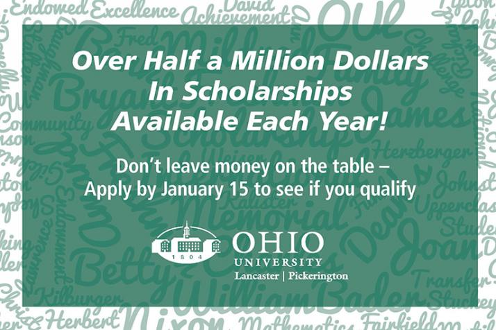 To Qualify for Scholarships - Apply by January 15