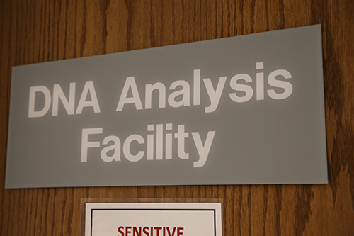 The DNA Analysis Facility sign