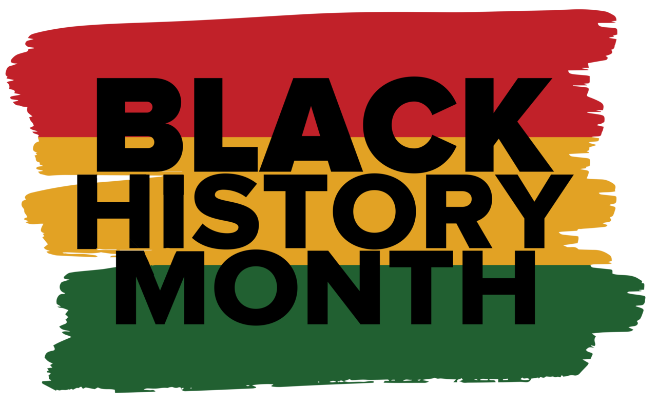 "Text graphic that reads, ""Black History Month"""