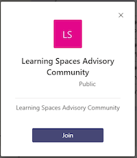 Join the Learning Spaces IT Advisory Community