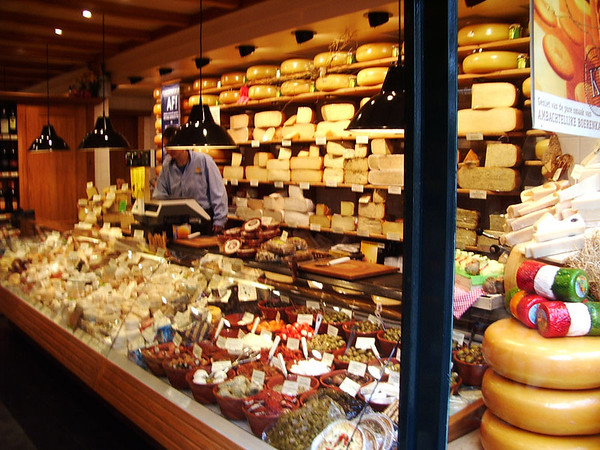 Man in cheese shop