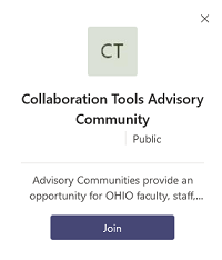Join Collaboration Tools Advisory Community