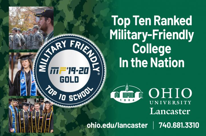Ohio University named one of the nation's top military-friendly schools for the ninth consecutive year