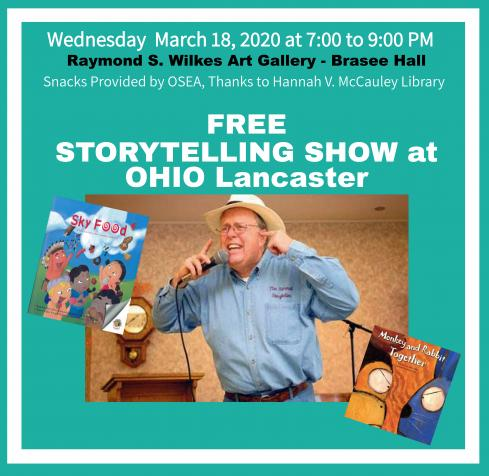 CANCELLED - Free Storytelling Show 7 p.m. March 18