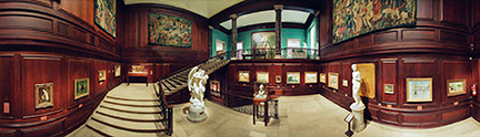 panoramic photograph of Corcoran Gallery of Art