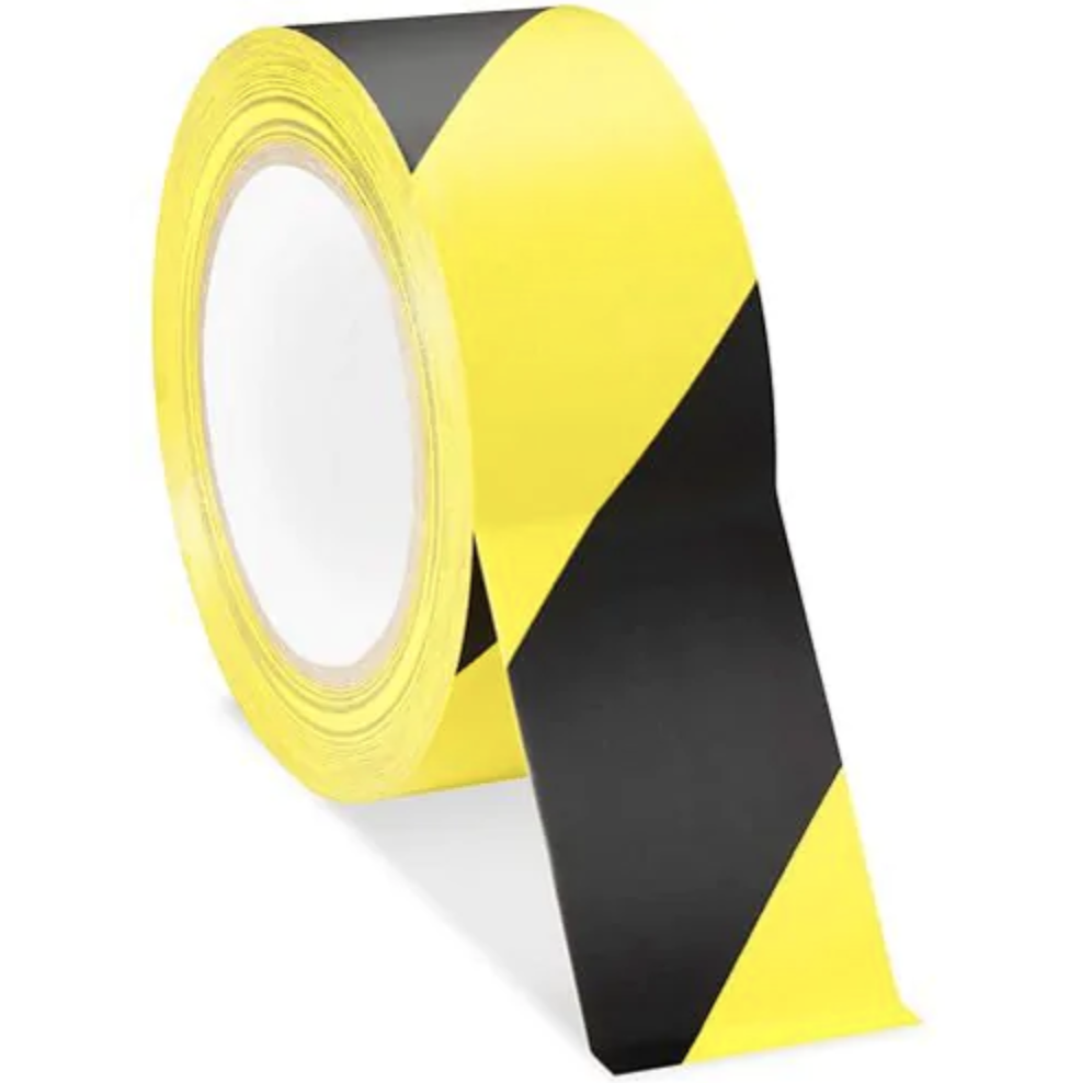 Yellow and black vinyl safety tape