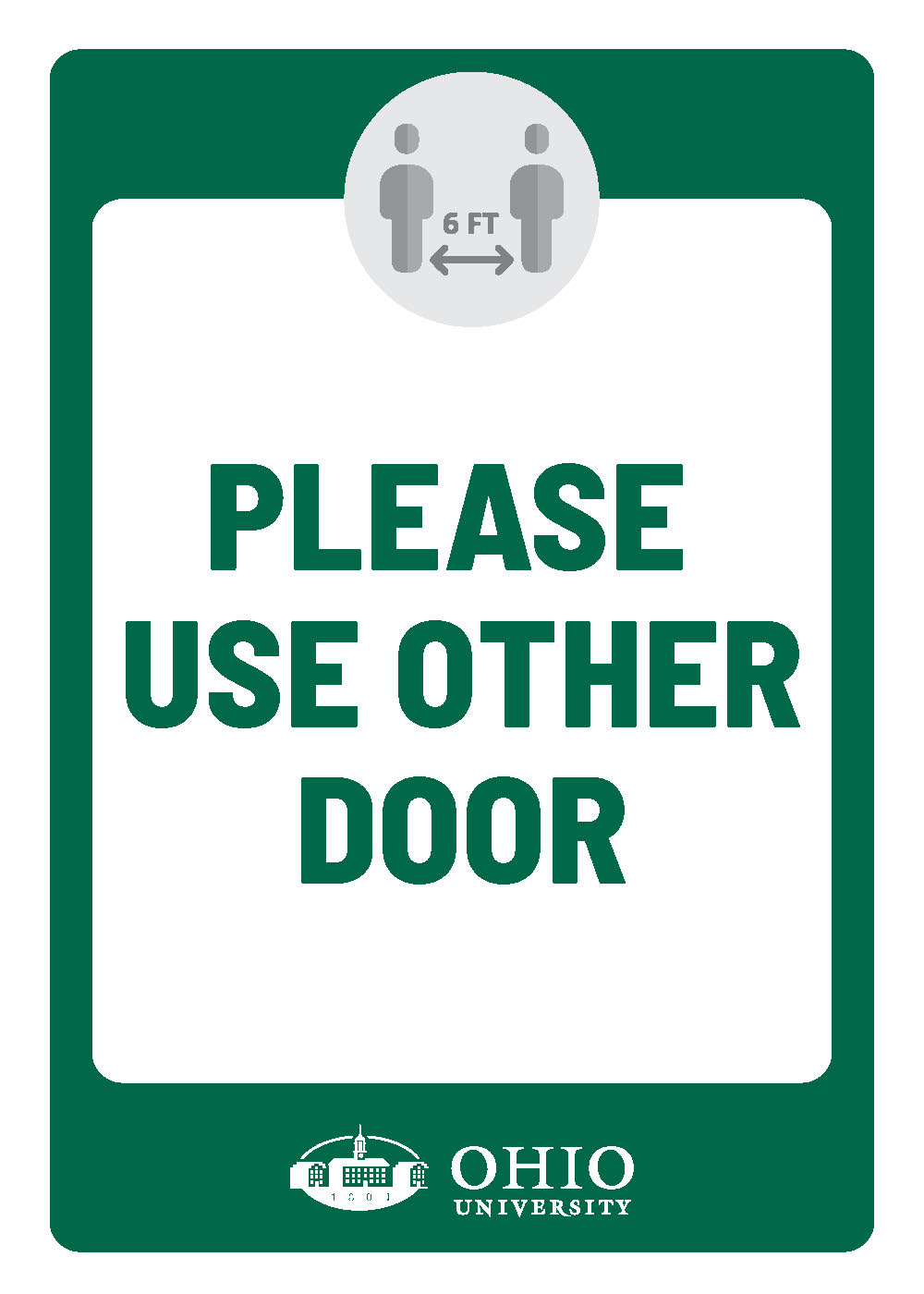 Sign that says: Please use other door