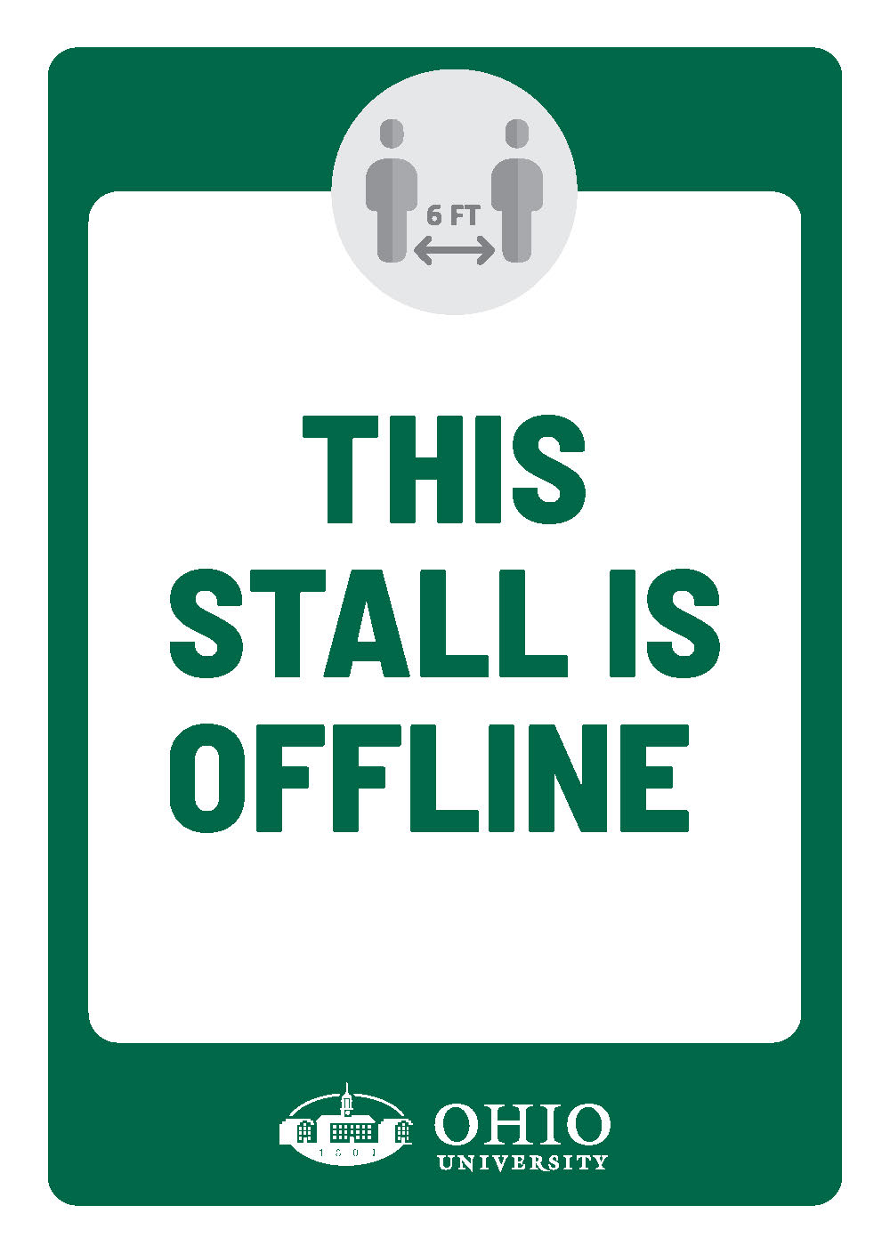 Sign that says: This stall is offline