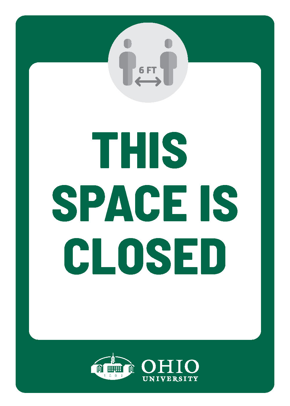 Sign that says: This space is closed
