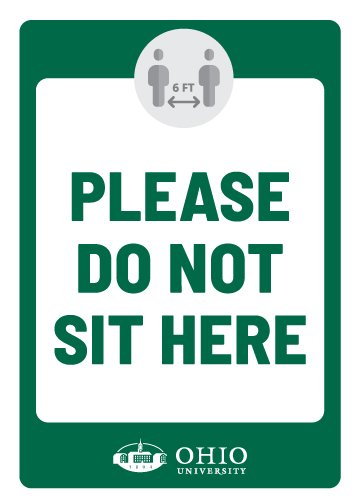 Sign that says: Please do not sit here.