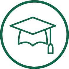 graphic displaying a mortarboard