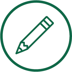graphic displaying a pencil