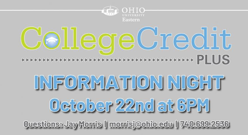 Ohio University Eastern to host virtual College Credit Plus Information Night