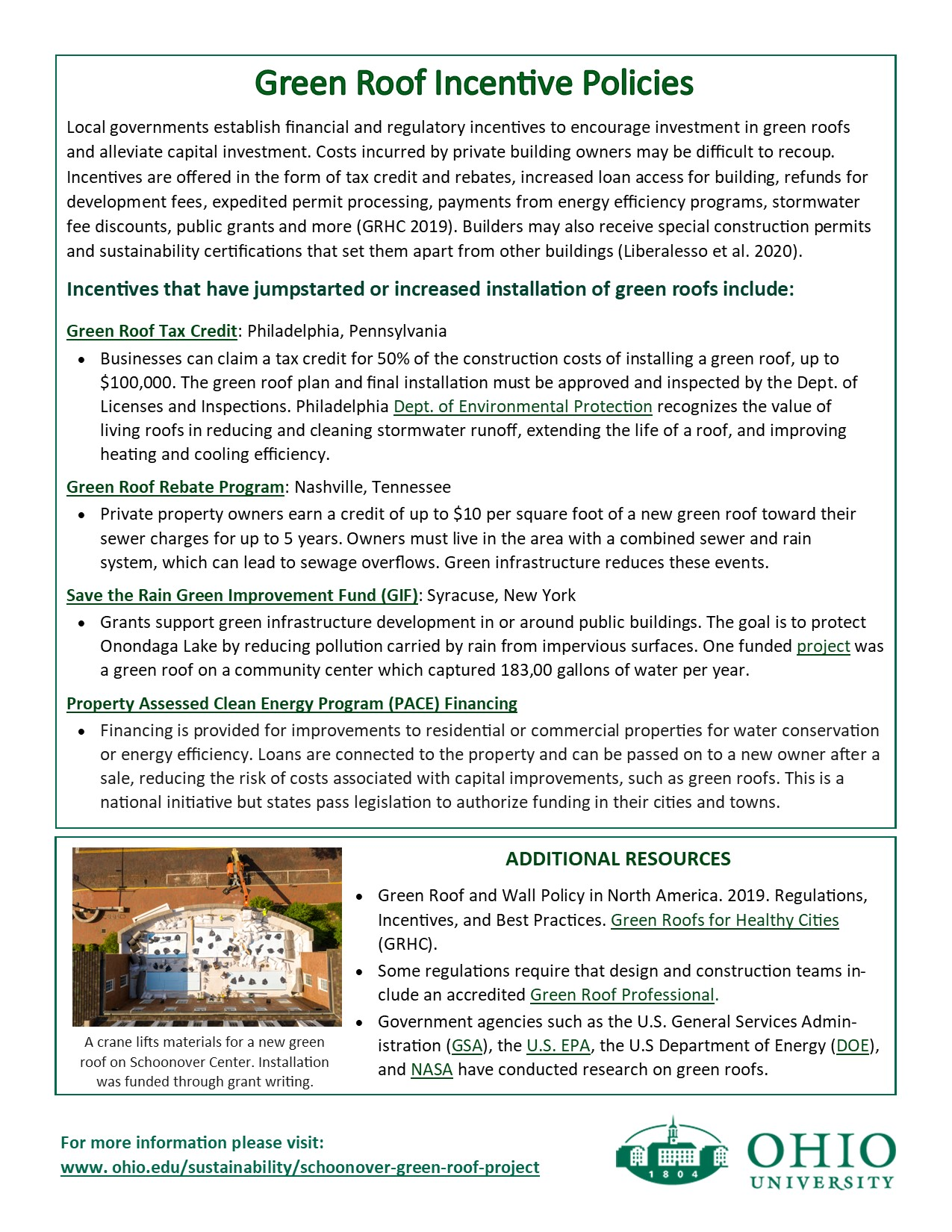 Flyer describing green roof policies p. 2