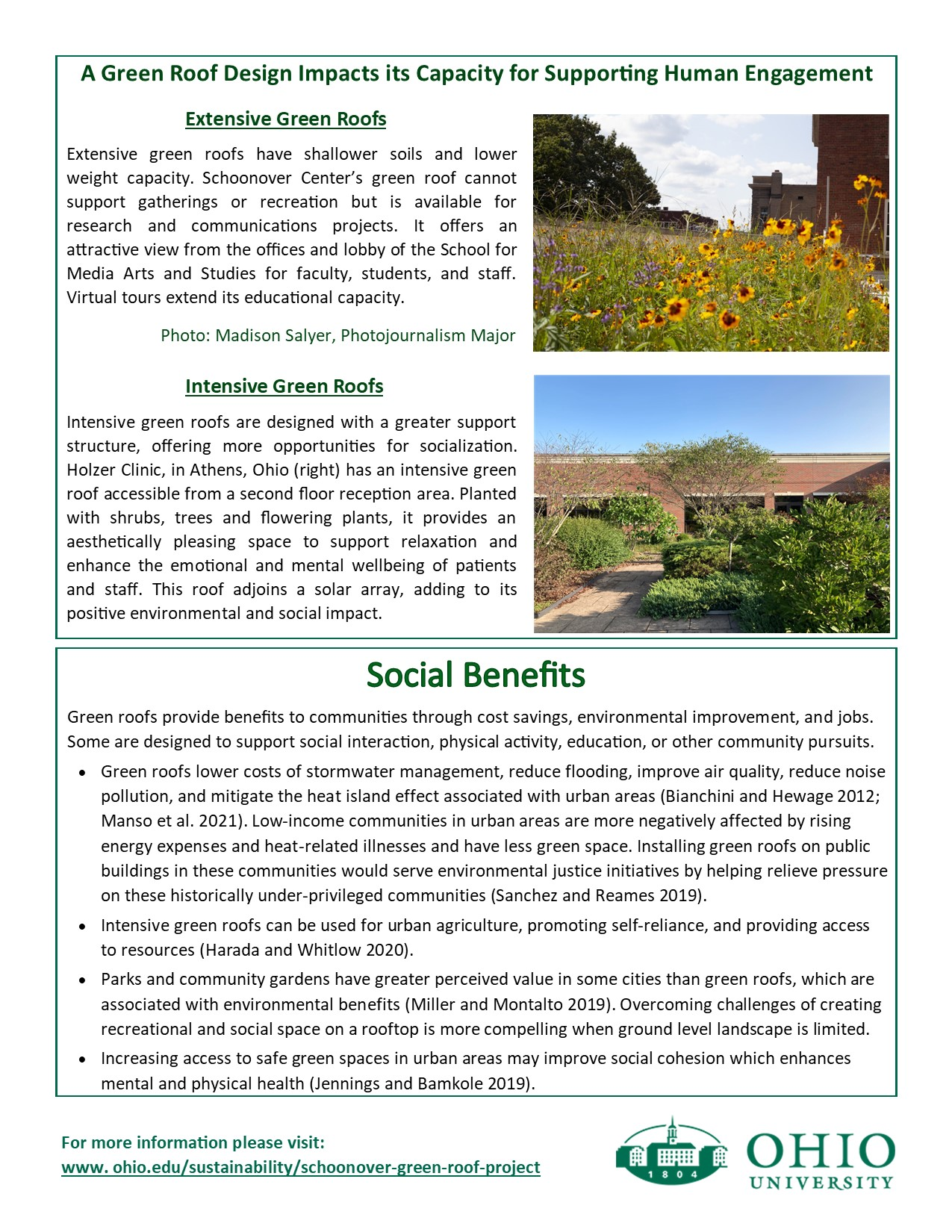 Psychosocial benefits of Green Roofs flyer p. 2