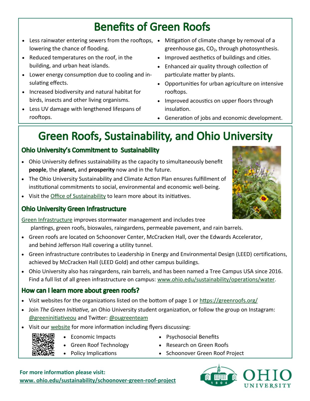 image of a flyer on green roofs p 2
