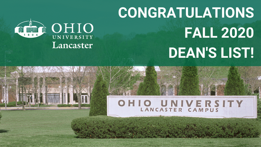 Ohio University Lancaster Releases Fall 2020 Dean's List