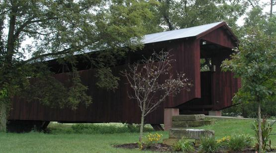 John Bright Covered Bridge from the side