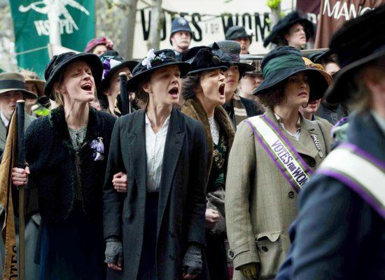 Suffragists rally.