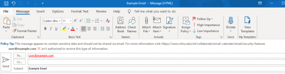 SSN blocking policy before sending email via Outlook Desktop Client